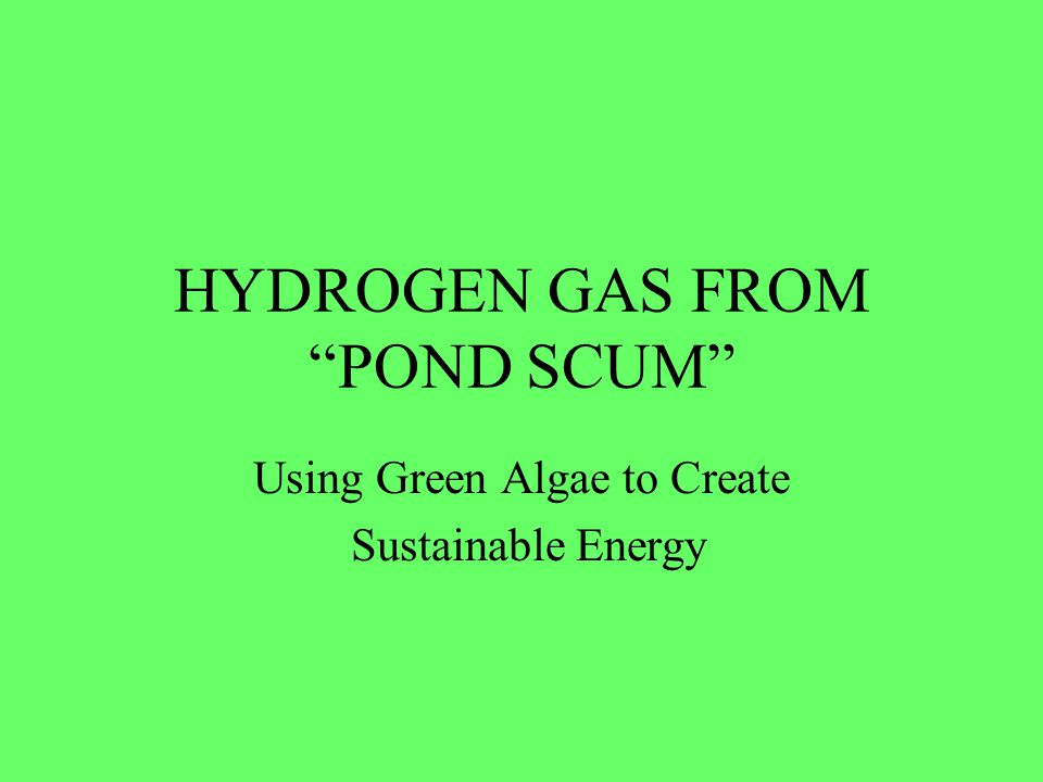 Reaching for the Stars Finding an efficient and renewable method of producing Hydrogen gas has been a goal for those seeking a clean and efficient way to generate a plethora of heat and electricity.