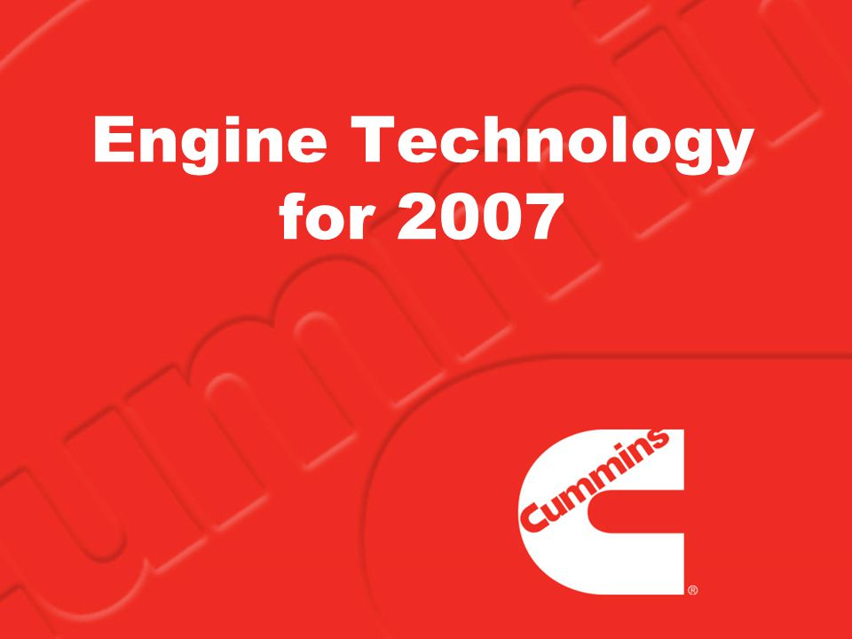 Engine Technology for 2007