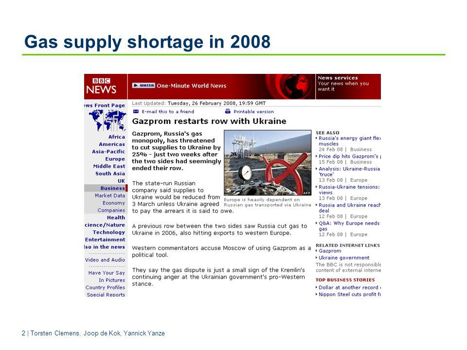 2 | Torsten Clemens, Joop de Kok, Yannick Yanze Gas supply shortage in 2008