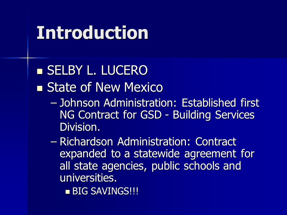 Introduction SELBY L. LUCERO SELBY L.