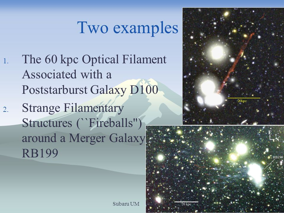 The filaments of the fireballs grow bluer with distance from the host galaxy RB199.