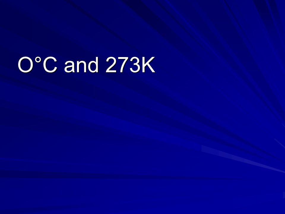 O°C and 273K