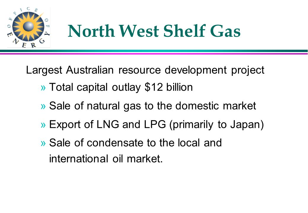 Gas Pipelines Access (WA) Bill 1998 l Makes the National Access Law a law of WA l Gives legal effect to the Code l Formalises derogations & transitional arrangements l Expected to commence in WA end of November 1998 l Derogations for DBNGP, GGP & SWDS to 1/1/2000