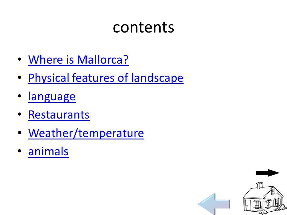 contents Where is Mallorca.