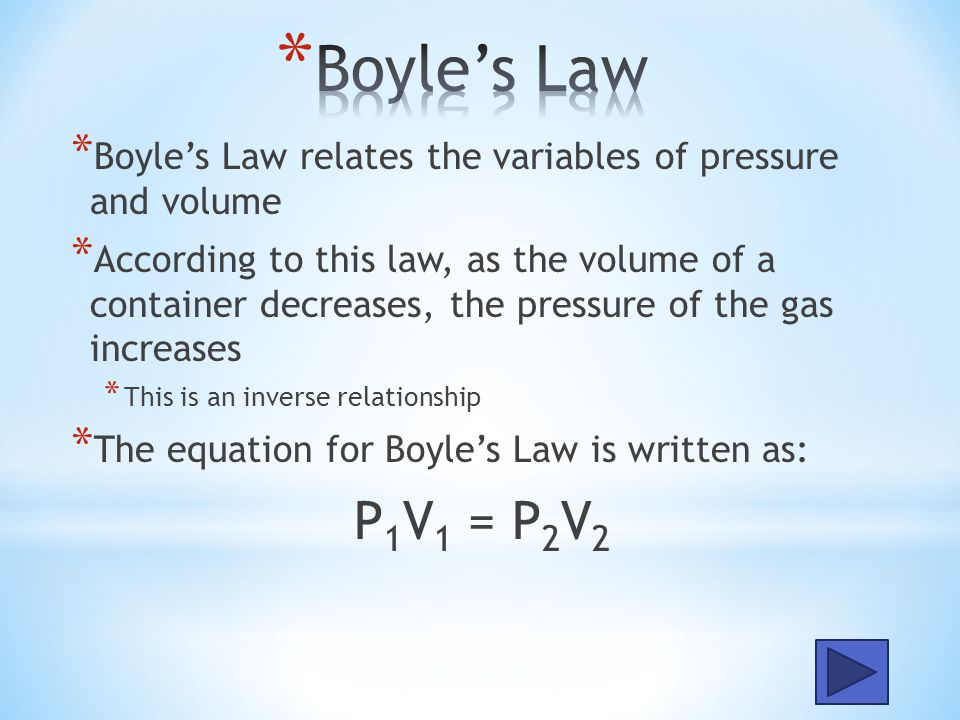 * The Gas Laws are mathematical equations that were developed in the early 18 th century to explain the relationships between the variables of a gas.