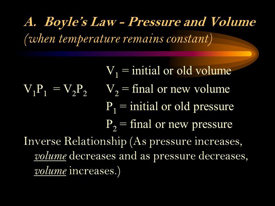 3. Temperature – as temperate increases gas particles move faster, as temperature decreases gas particles move slower. Measured in Kelvin (K). K = 273