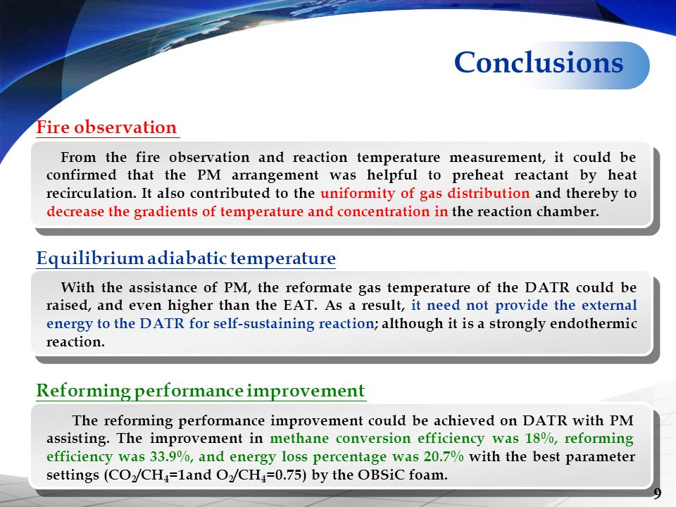 With the assistance of PM, the reformate gas temperature of the DATR could be raised, and even higher than the EAT. As a result, it need not provide t