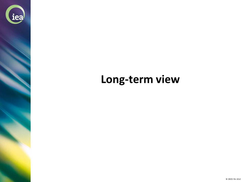 © OECD/IEA 2010 Long-term view
