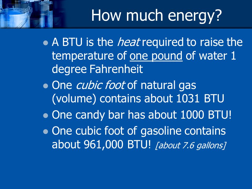 How much energy.