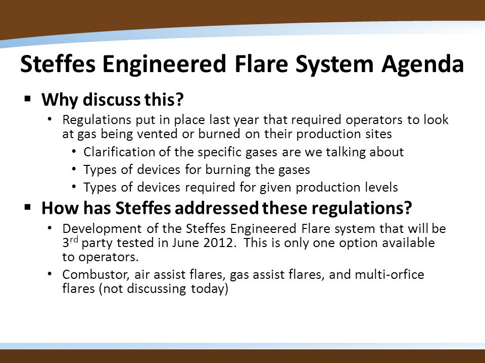Overview of the Flare System