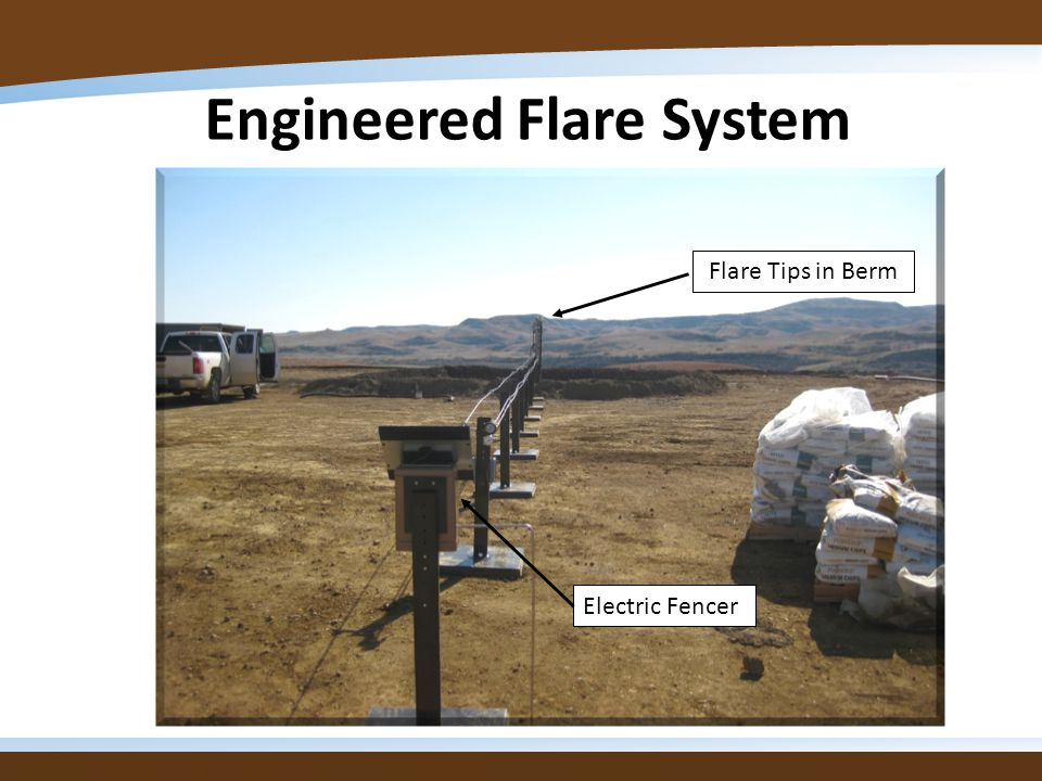 Engineered Flare System Flare Tips in Berm Electric Fencer