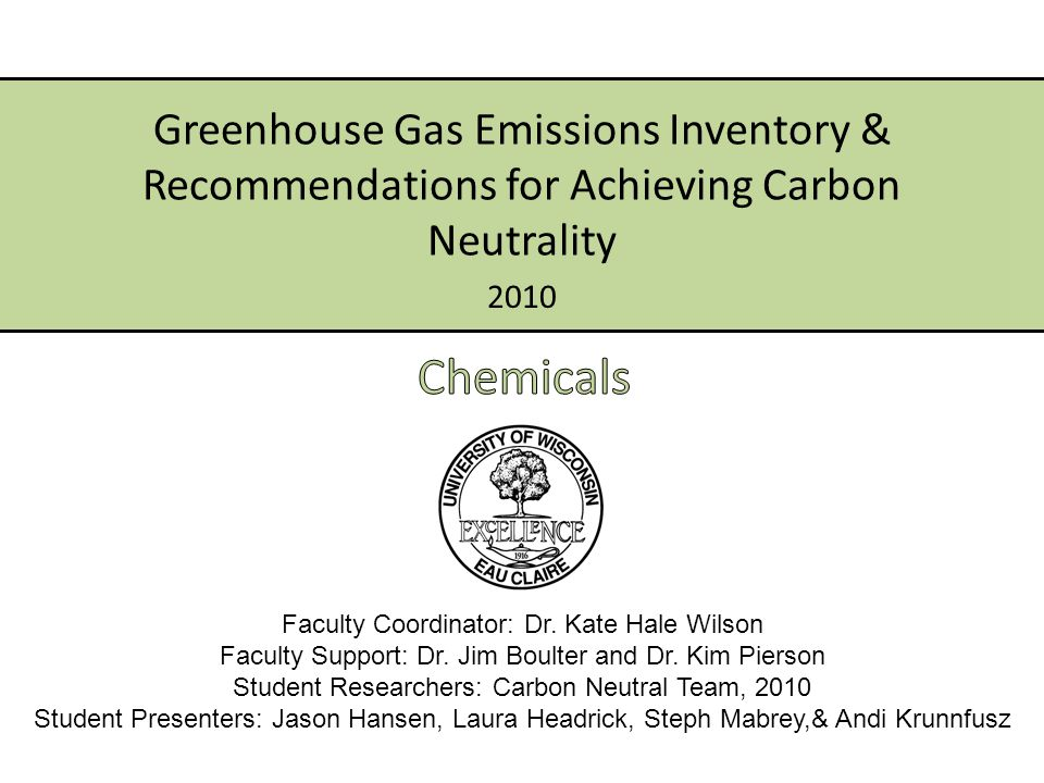 ACUPCC Presidents Climate Commitment – Achieve climate neutrality (date TBD) – Initiate tangible actions to reduce greenhouse gas emissions – Publish the climate action plan, emissions inventory, and periodic progress reports