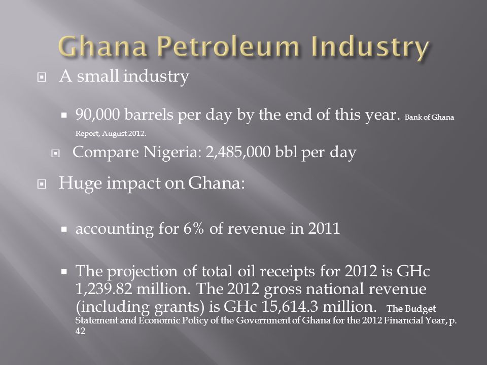 A small industry 90,000 barrels per day by the end of this year.