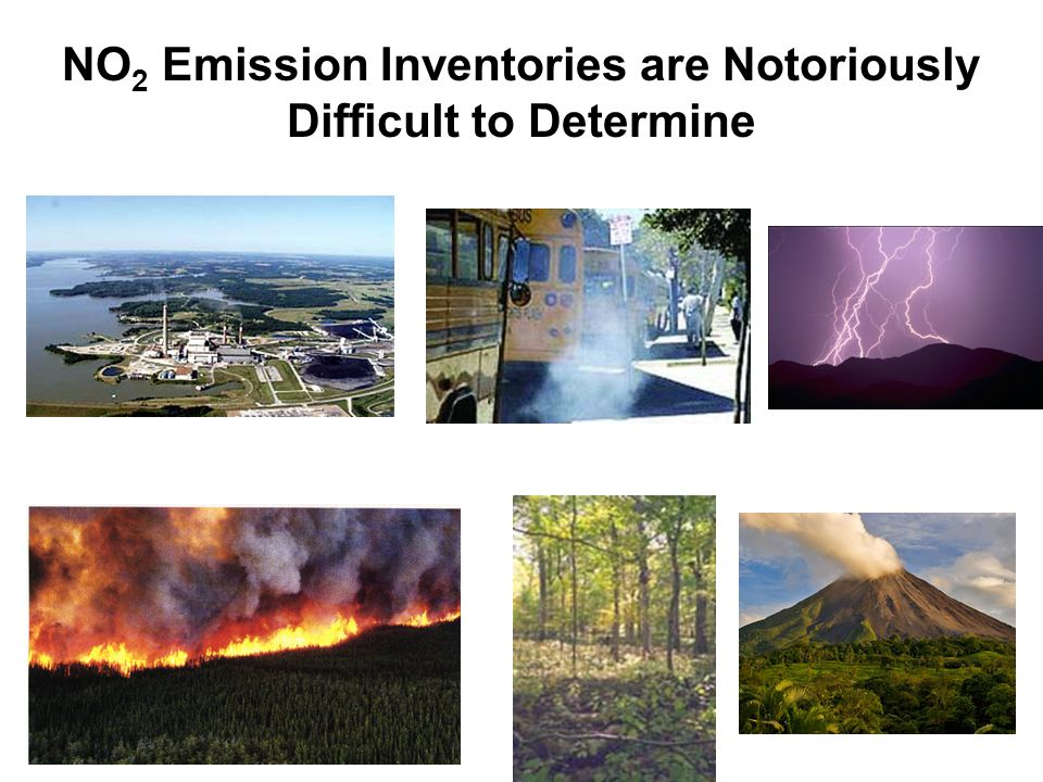 NO 2 Emission Inventories are Notoriously Difficult to Determine