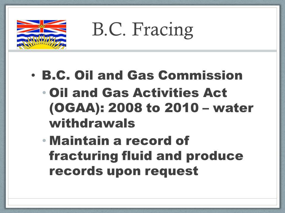 B.C. Fracing B.C.