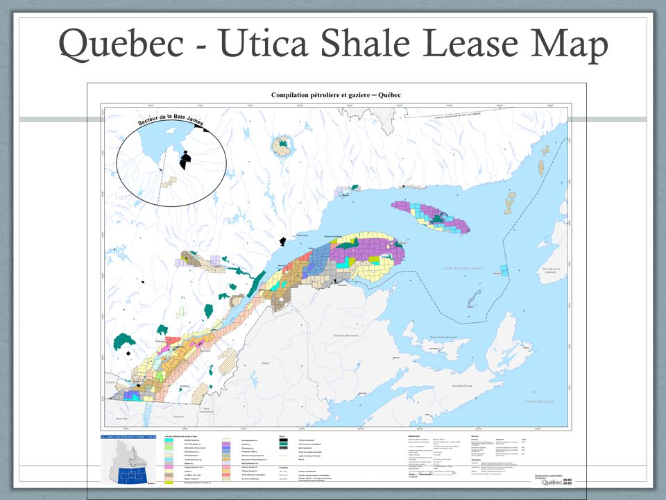 Quebec - Utica Shale Lease Map