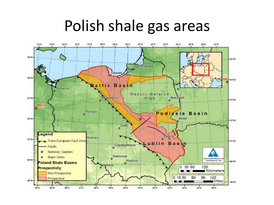 Polish shale gas areas