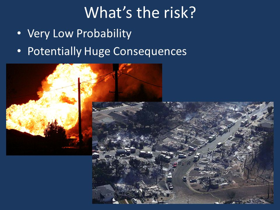 Whats the risk? Very Low Probability Potentially Huge Consequences