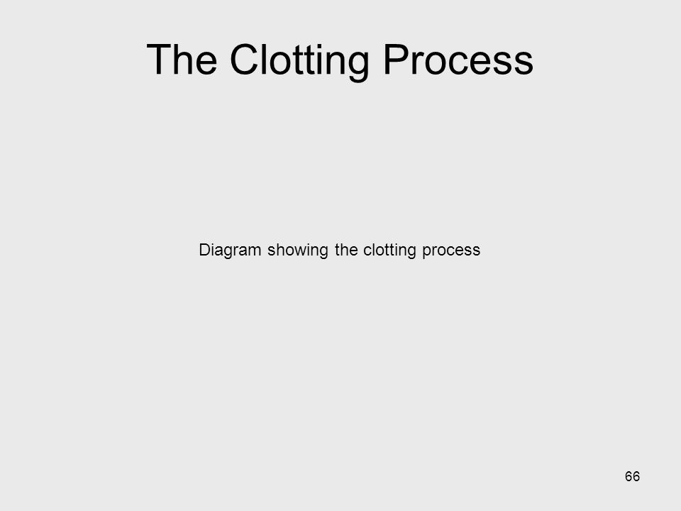 66 Diagram showing the clotting process The Clotting Process