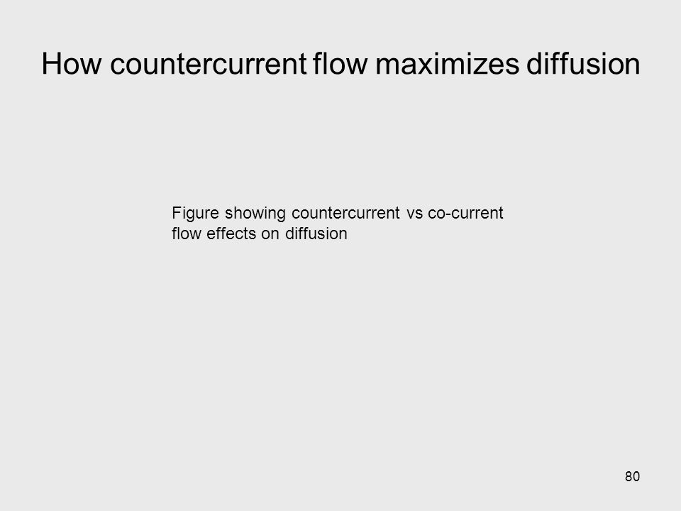 80 Figure showing countercurrent vs co-current flow effects on diffusion How countercurrent flow maximizes diffusion