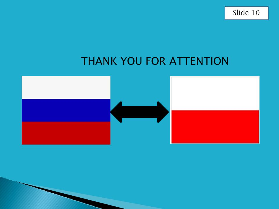 THANK YOU FOR ATTENTION Slide 10