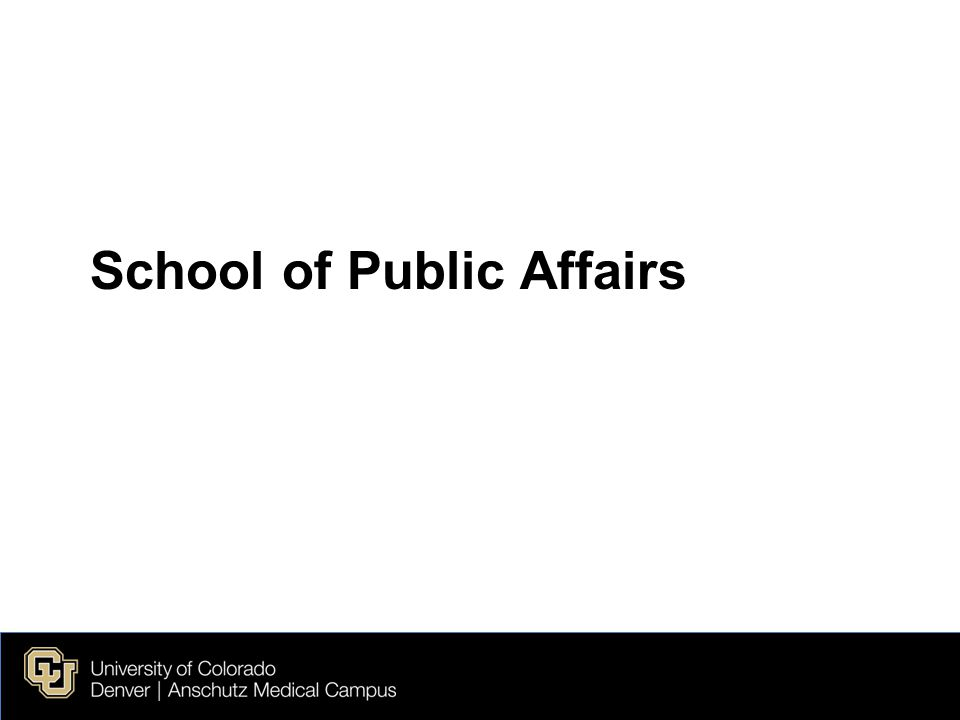 School of Public Affairs