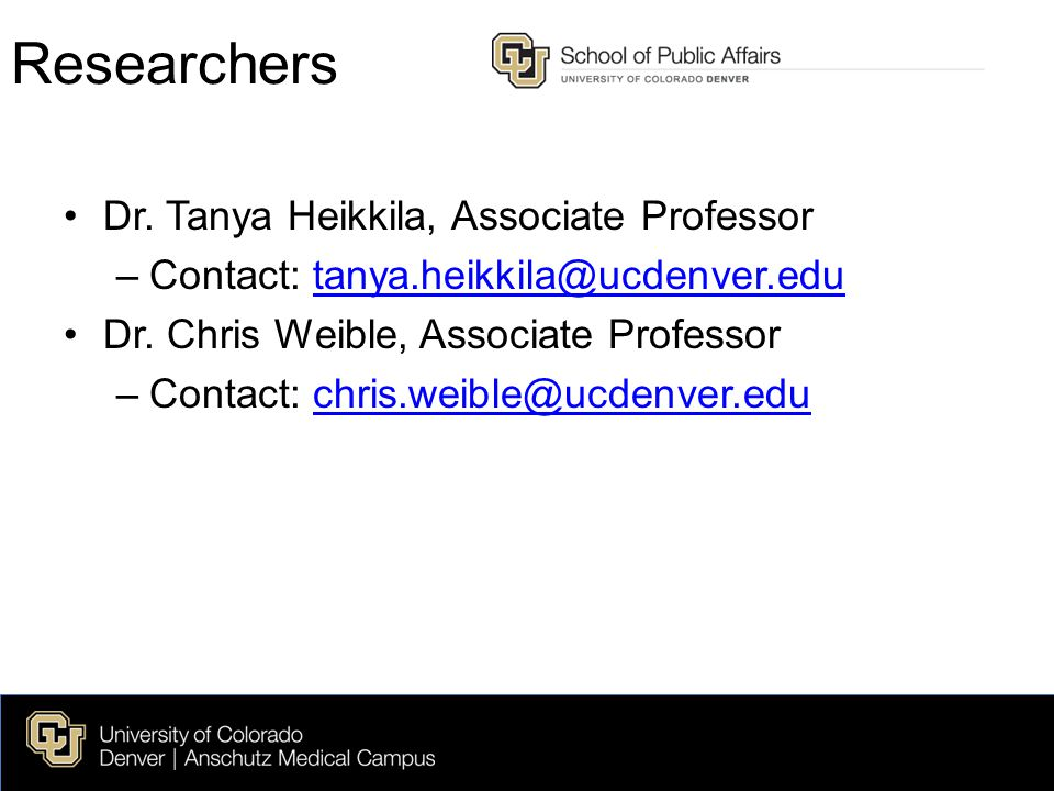 Researchers Dr.