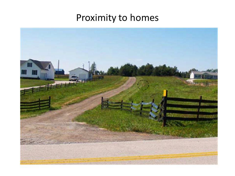 Proximity to homes