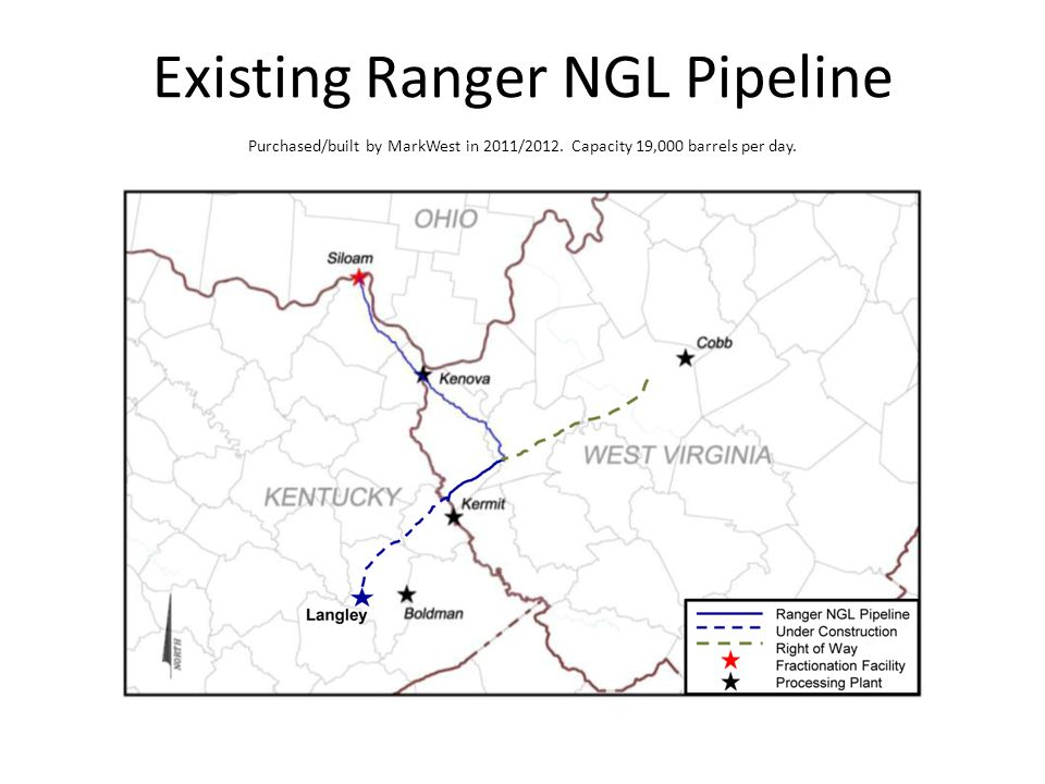 Existing Ranger NGL Pipeline Purchased/built by MarkWest in 2011/2012.