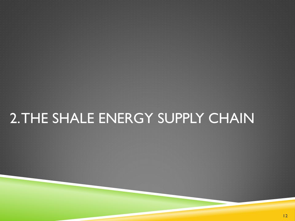 2. THE SHALE ENERGY SUPPLY CHAIN 12