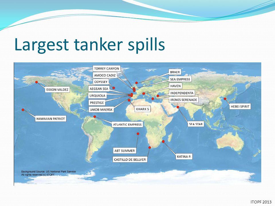 Largest tanker spills ITOPF 2013