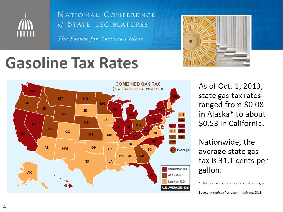 Gasoline Tax Rates As of Oct.
