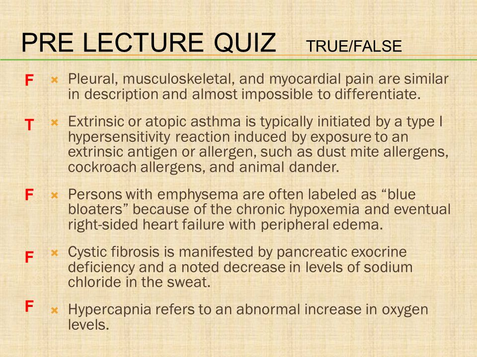 PRE LECTURE QUIZ A pleural __________ refers to an abnormal collection of fluid in the pleural cavity.