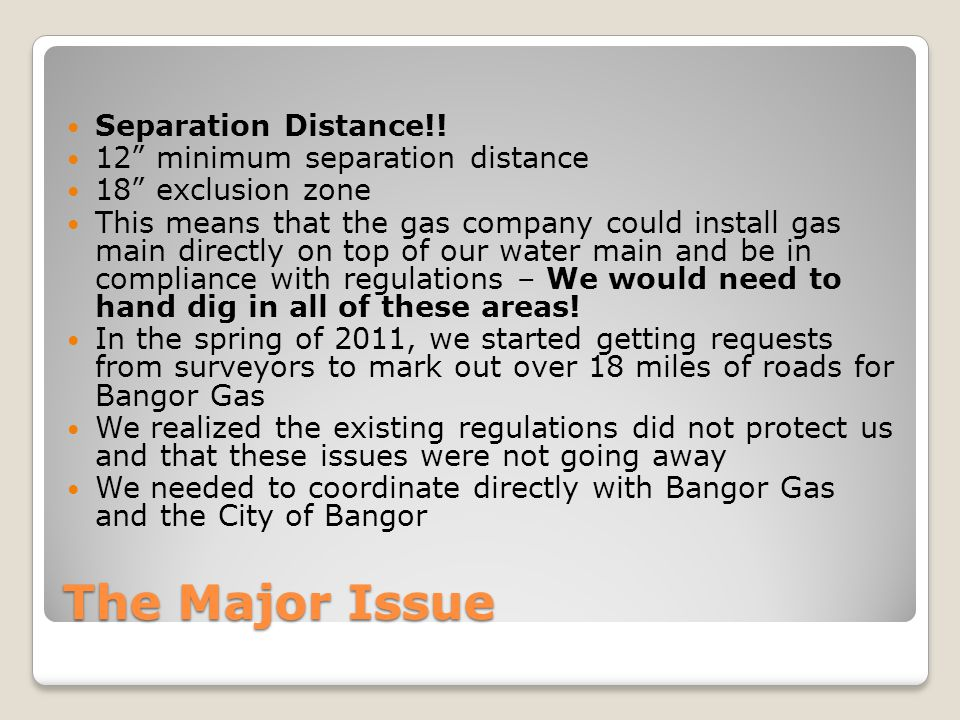 The Major Issue Separation Distance!.