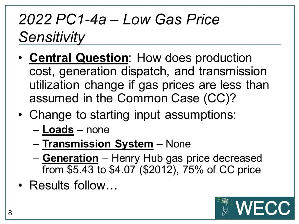 9 2022 Low Gas Price Results – Changes in Total Annual Generation GWh (MWh) Other Results (see TEPPC Glossary for definitions) PC1 PC1-4Difference%Diff Dump Energy397,104436,88939,78510.019% Emergency Energy2,6763,11443716.340% CO 2 Emissions (MMetricTons)359354(6)-1.576% CO 2 Adder ($/metric ton)0.000 Variable Production Cost (thermal units excl DSM) CO 2 Adder (Total M$)0000.000% Other Variable Costs (M$)14,85112,596(2,255)-15.186% Total Var.