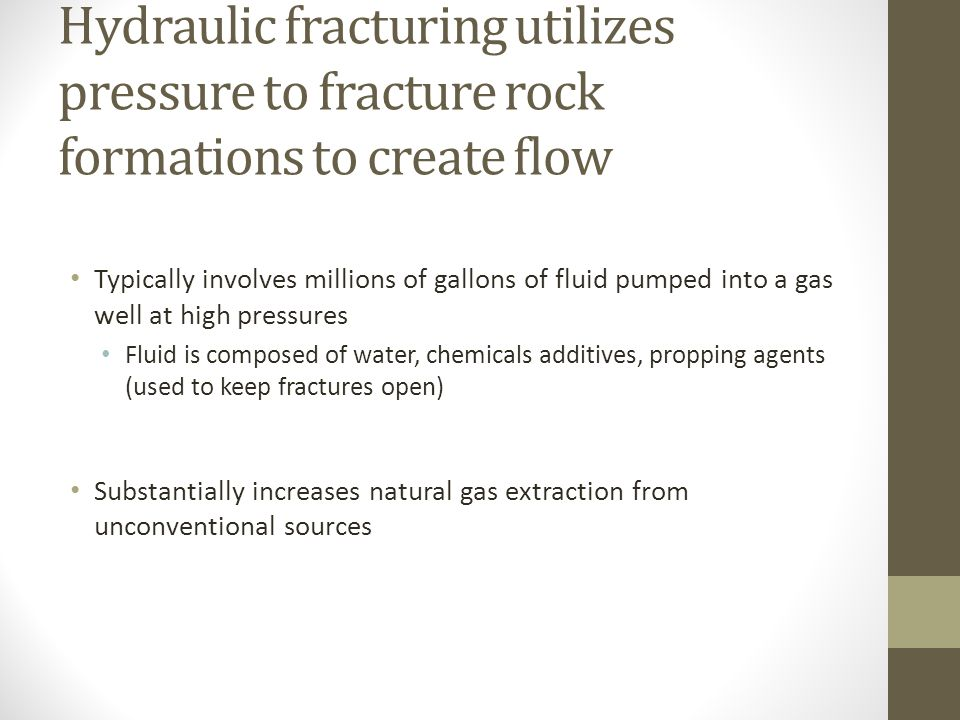 The fracking process can be seen below: