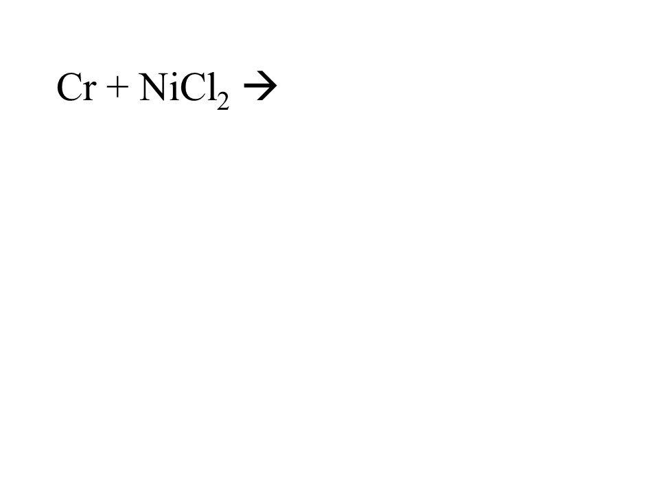 Cr + NiCl 2