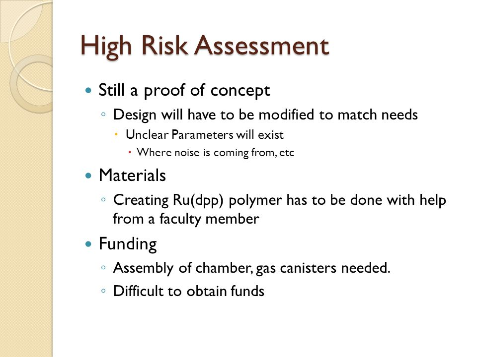 Testing Results Plan was to assemble a tight flow chamber with valves with oxygen and nitrogen flowing in.