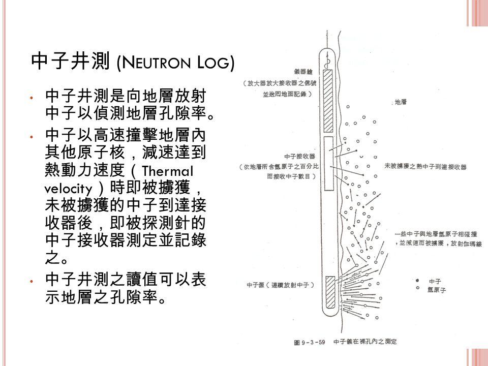 (N EUTRON L OG ) Thermal velocity