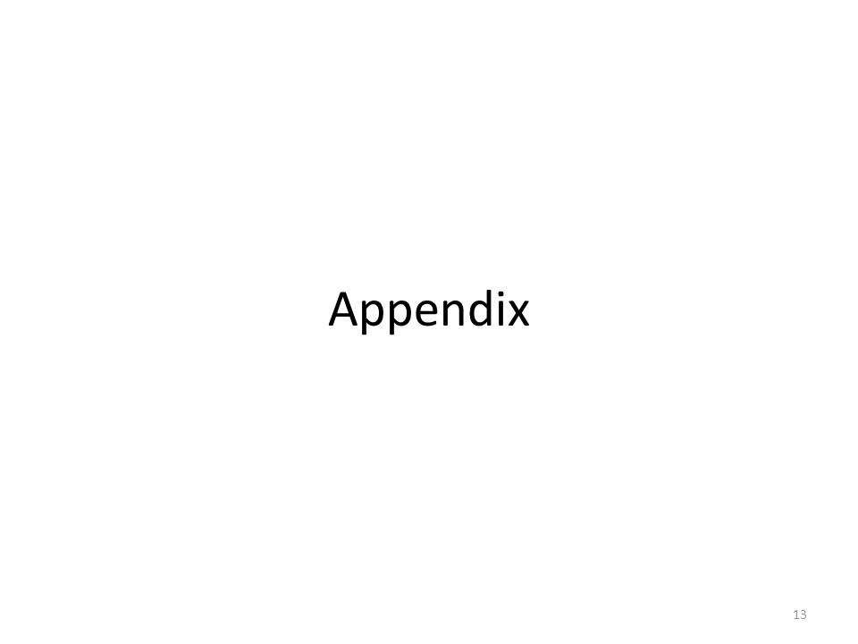 Appendix 13