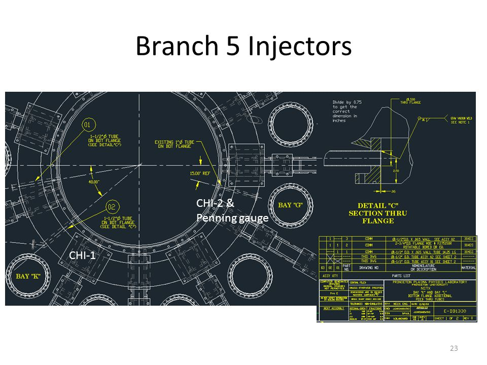 Branch 5 Injectors 23 CHI-1 CHI-2 & Penning gauge