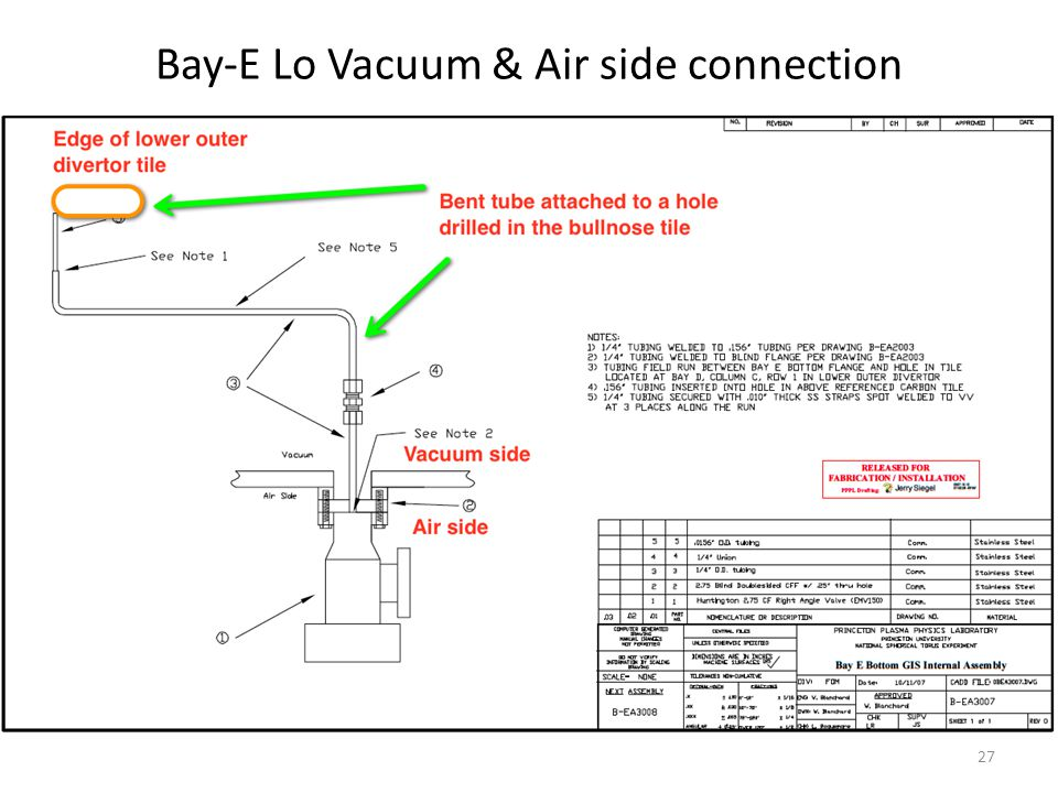 Bay-E Lo Vacuum & Air side connection 27