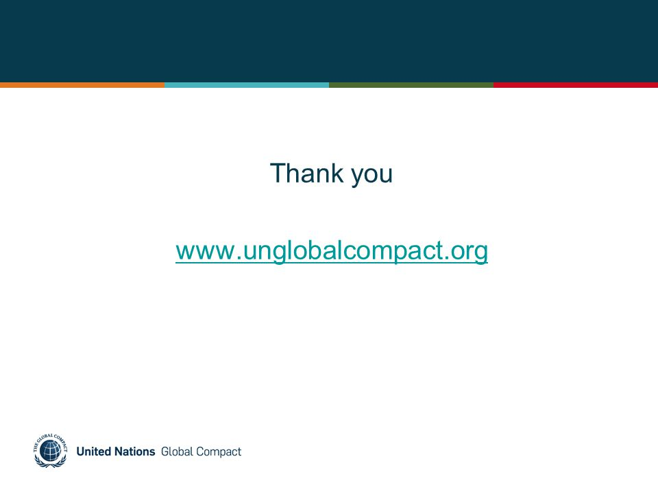 Thank you www.unglobalcompact.org