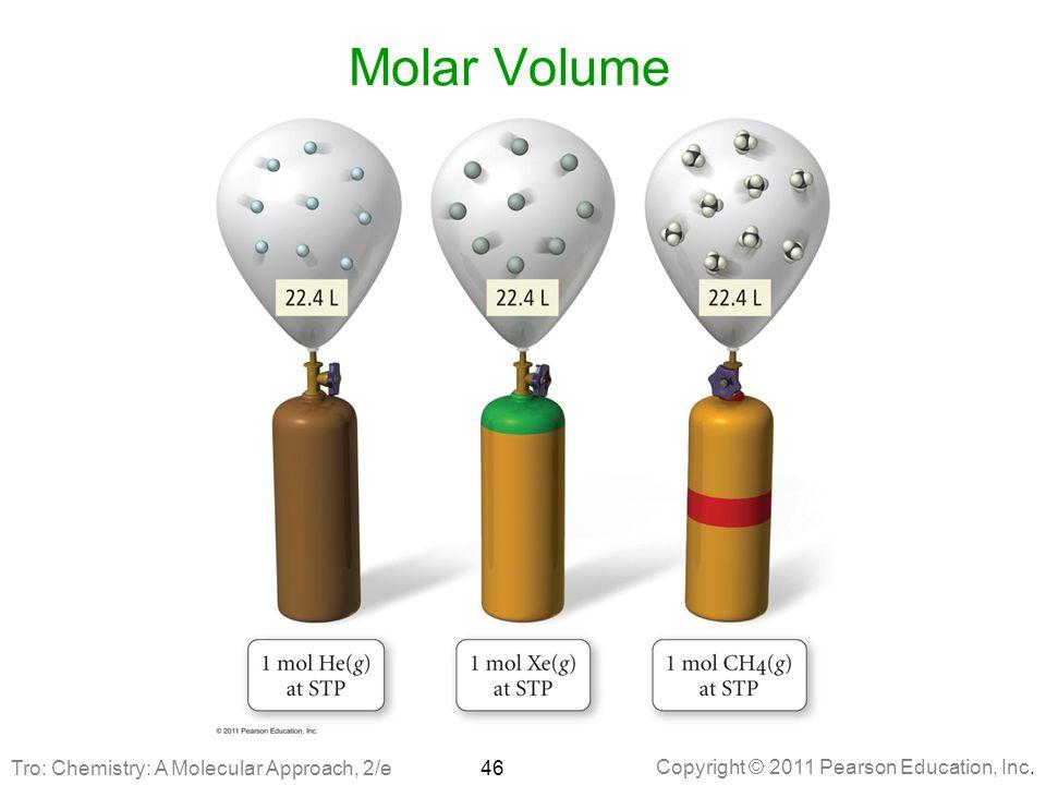 Copyright © 2011 Pearson Education, Inc. Molar Volume 46Tro: Chemistry: A Molecular Approach, 2/e