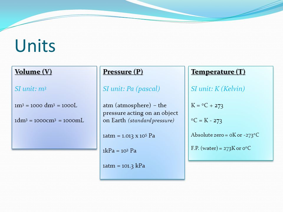 Gay-Lussacs Law (P vs T) At constant volume, Pressure of a given quantity of gas is directly proportional to its temperature OR the ratio of pressure and temperature is equal to a constant p/T = k (a constant) At constant volume, Pressure of a given quantity of gas is directly proportional to its temperature OR the ratio of pressure and temperature is equal to a constant p/T = k (a constant) p i /T i = p f /T f So, at constant volume: p i /T i = p f /T f where, p i and T i are the initial pressure and temperature, p f and T f are the final pressure and temperature.