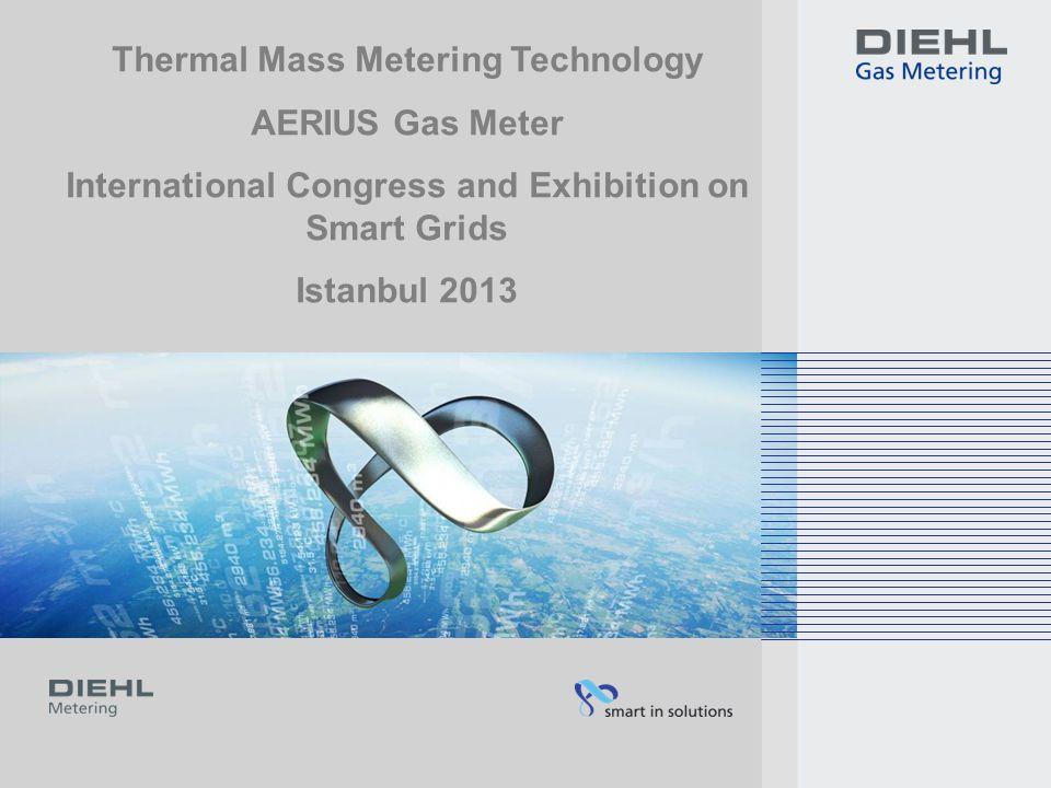 AERIUS 10.05.2013Diehl Metering12 For pressure independent and temperature converting standard volume measurements Domestic gas meter based on the microthermal measurement principle