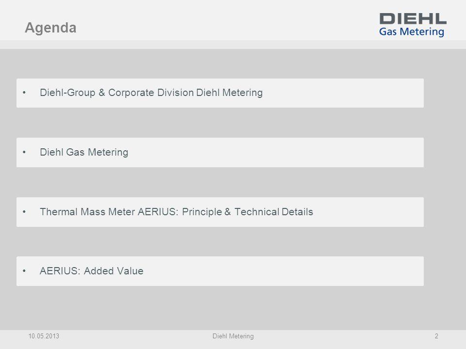 Diehl: Corporate Profile Sales: 2,9 Billion * Employees: 14.500 * Head office:Nürnberg Family-owned company since 1902 * Trends 2012 Corporate Divisions: 10.05.2013Diehl Metering3