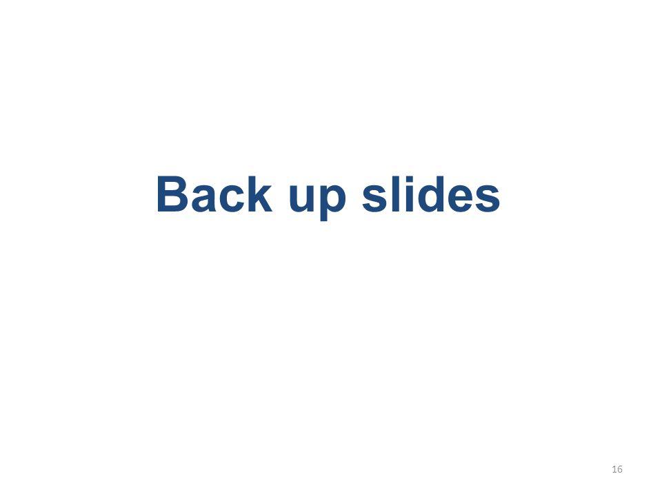 Back up slides 16