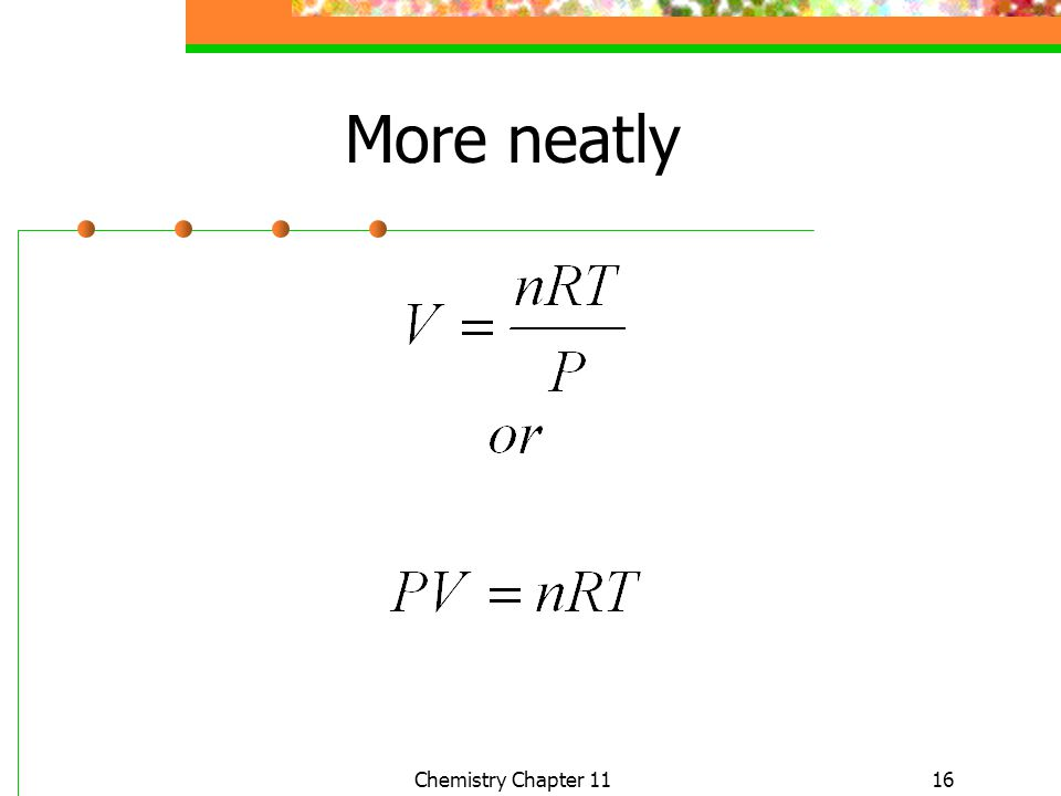 16 More neatly Chemistry Chapter 11
