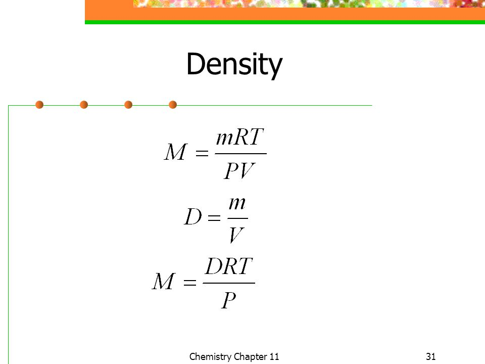 31 Density Chemistry Chapter 11
